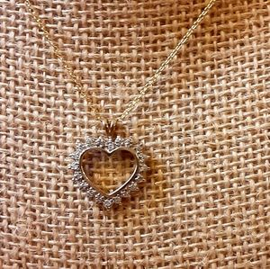 .25 Carat Diamond Heart Pendant & Necklace
